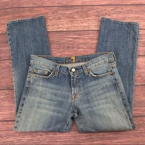 7 For All Mankind Crop bootcut size 29